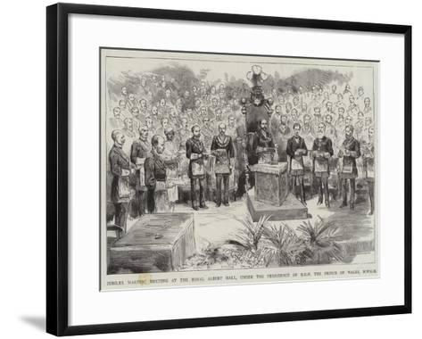 Jubilee Masonic Meeting at the Royal Albert Hall--Framed Art Print