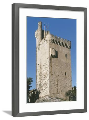 Low Angle View of a Tower--Framed Art Print