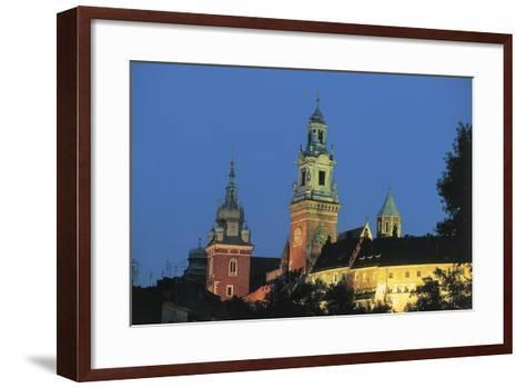 Low Angle View of Castle and a Cathedral--Framed Art Print