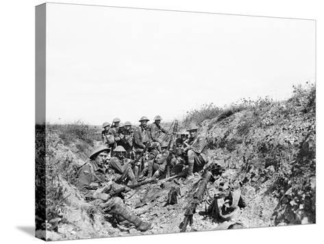 Lieutenant A. V. Sedgwick Mc and Some of His Party from the 24th Battalion--Stretched Canvas Print