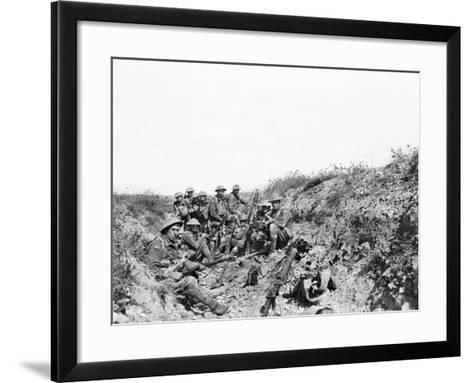 Lieutenant A. V. Sedgwick Mc and Some of His Party from the 24th Battalion--Framed Art Print