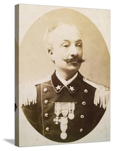 Lieutenant Colonel Tommaso De Cristoforis (Casale Monferrato--Stretched Canvas Print