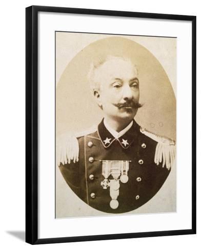 Lieutenant Colonel Tommaso De Cristoforis (Casale Monferrato--Framed Art Print