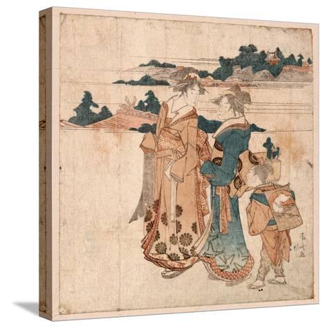 Miyamode Suru Bijin--Stretched Canvas Print