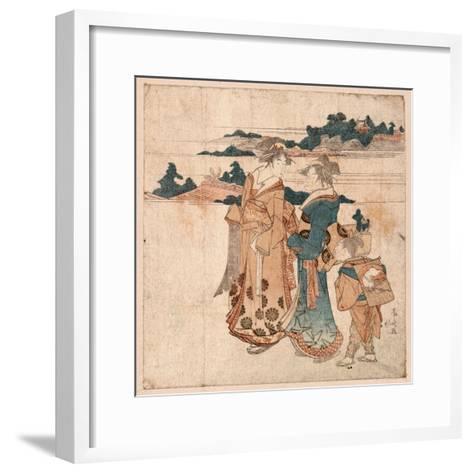 Miyamode Suru Bijin--Framed Art Print