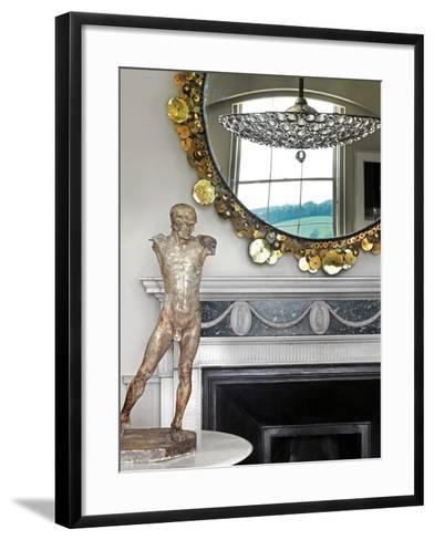 Model of a Classical Male--Framed Art Print