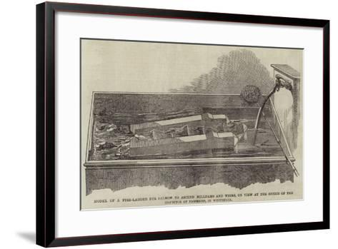 Model of a Fish-Ladder for Salmon to Ascend Milldams and Weirs--Framed Art Print