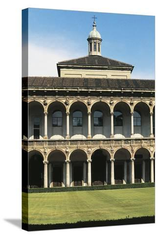 Major Cloister (Or Richini Cloister) of Former Major Hospital (Ospedale Maggiore)--Stretched Canvas Print