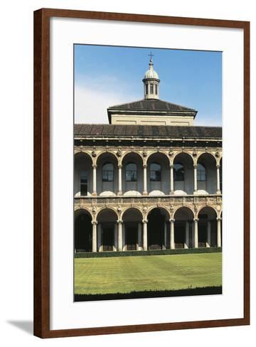 Major Cloister (Or Richini Cloister) of Former Major Hospital (Ospedale Maggiore)--Framed Art Print