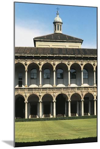 Major Cloister (Or Richini Cloister) of Former Major Hospital (Ospedale Maggiore)--Mounted Photographic Print