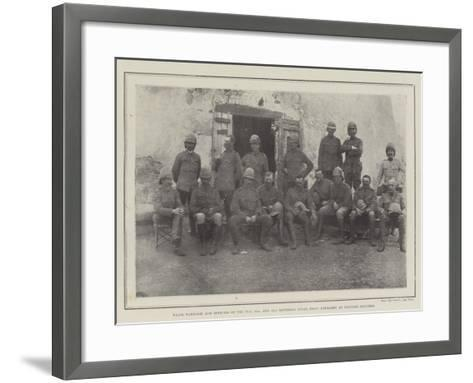Major Harrison and Officers of the 76Th--Framed Art Print