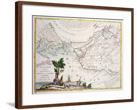 Map of North-East Asia and North-West America--Framed Art Print
