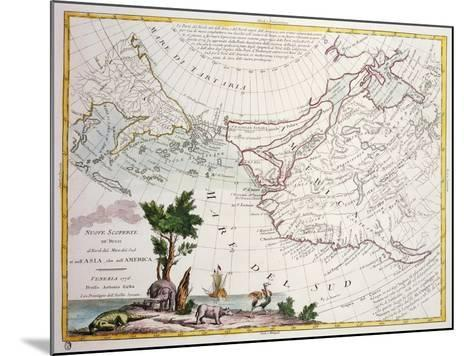 Map of North-East Asia and North-West America--Mounted Giclee Print