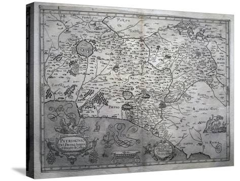 Map of San Pietro in Sabina and Duchy of Castro--Stretched Canvas Print