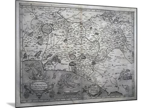 Map of San Pietro in Sabina and Duchy of Castro--Mounted Giclee Print