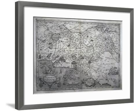 Map of San Pietro in Sabina and Duchy of Castro--Framed Art Print