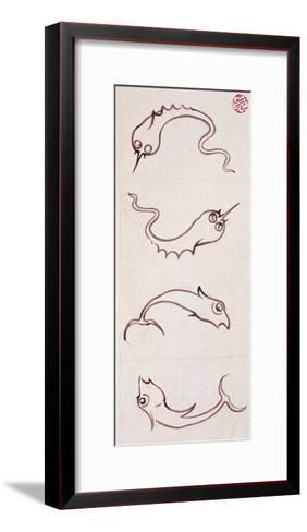 Motifs for Bathroom Tiles--Framed Art Print