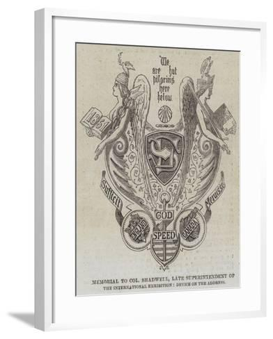 Memorial to Colonel Shadwell--Framed Art Print