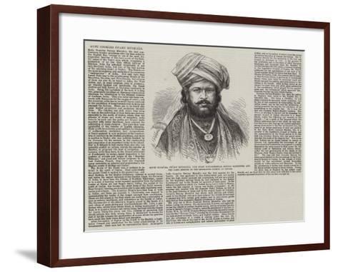 Mutu Coomara Swamy Mudeliar--Framed Art Print
