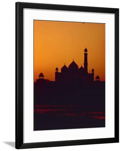 Mausoleum of Taj Mahal at Sunset--Framed Art Print