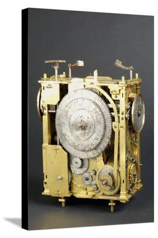 Mechanism of Clock That Can Indicate Position of Stars--Stretched Canvas Print