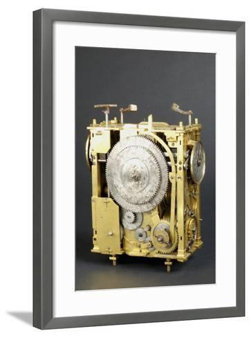 Mechanism of Clock That Can Indicate Position of Stars--Framed Art Print