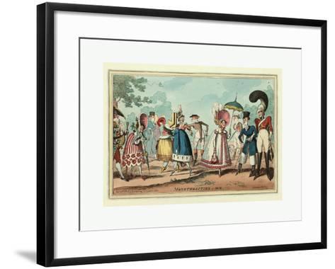 Monstrosities of 1818--Framed Art Print