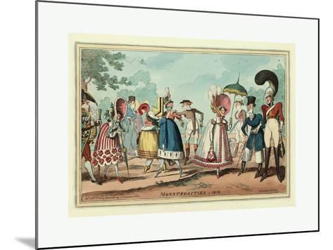 Monstrosities of 1818--Mounted Giclee Print