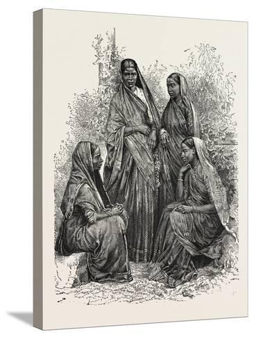 Native Women (Bombay Presidency)--Stretched Canvas Print