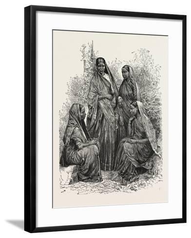 Native Women (Bombay Presidency)--Framed Art Print