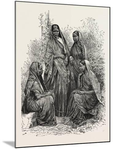 Native Women (Bombay Presidency)--Mounted Giclee Print