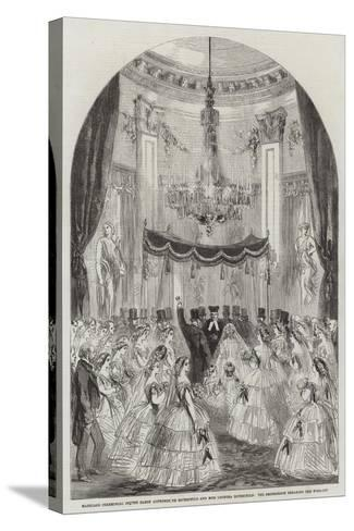 Marriage Ceremonial of the Baron Alphonse De Rothschild and Miss Leonora Rothschild--Stretched Canvas Print