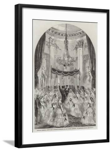 Marriage Ceremonial of the Baron Alphonse De Rothschild and Miss Leonora Rothschild--Framed Art Print