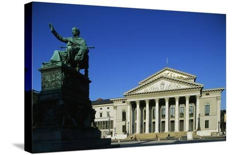 Monument of Max I Joseph (Schwetzingen--Stretched Canvas Print