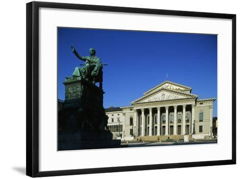 Monument of Max I Joseph (Schwetzingen--Framed Art Print