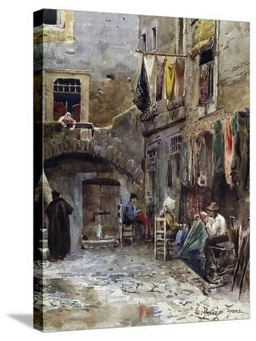 Medieval Remains in Ghetto of Rome--Stretched Canvas Print
