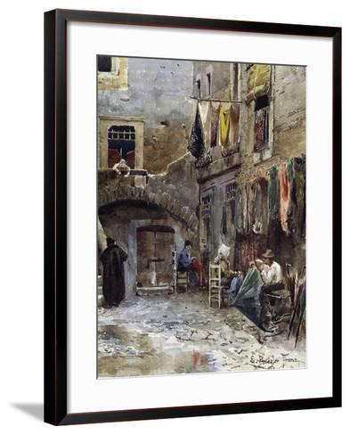 Medieval Remains in Ghetto of Rome--Framed Art Print