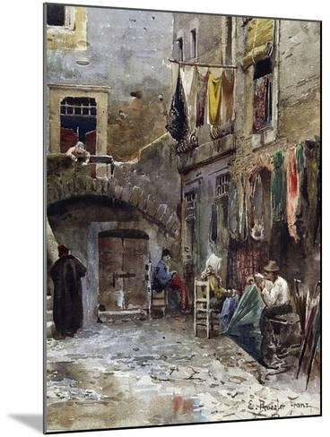 Medieval Remains in Ghetto of Rome--Mounted Giclee Print