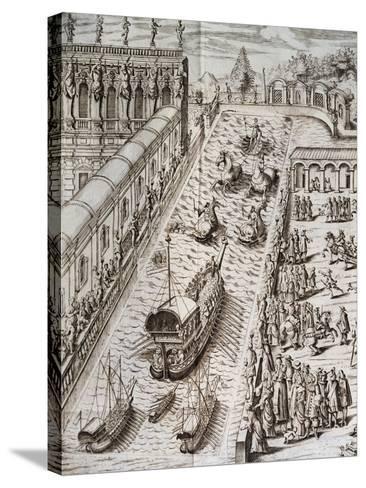 Naval Procession in Villa Contarini--Stretched Canvas Print