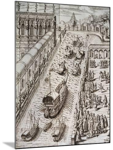 Naval Procession in Villa Contarini--Mounted Giclee Print