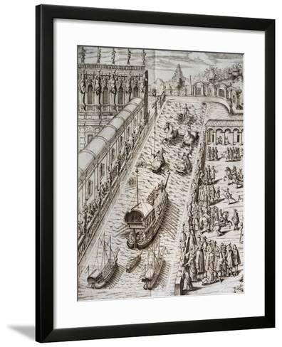 Naval Procession in Villa Contarini--Framed Art Print