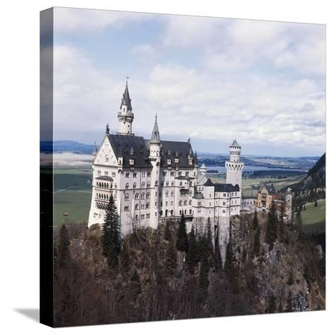 Neuschwanstein Castle--Stretched Canvas Print