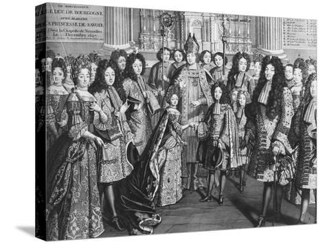 Marriage of Louis De France (1682-1712)--Stretched Canvas Print