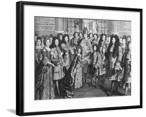 Marriage of Louis De France (1682-1712)--Framed Art Print