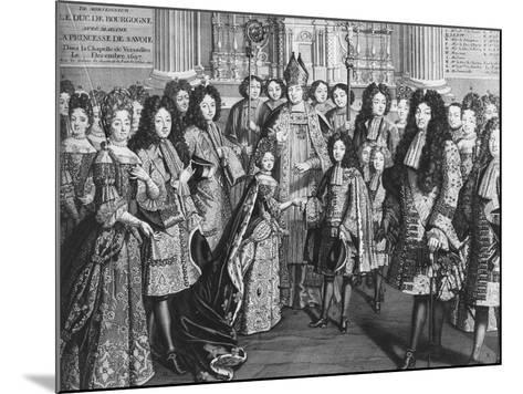 Marriage of Louis De France (1682-1712)--Mounted Giclee Print