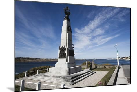 Monument to Celebrate British Victory in Naval Battle of 8 December 1914 Between Royal Navy and Imp--Mounted Photographic Print