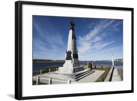 Monument to Celebrate British Victory in Naval Battle of 8 December 1914 Between Royal Navy and Imp--Framed Art Print