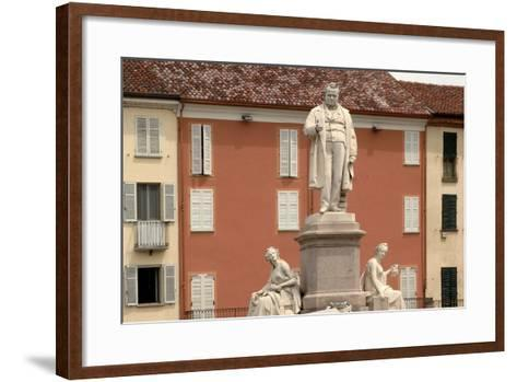 Monument to Count Camillo Benso Di Cavour (1810-1861)--Framed Art Print