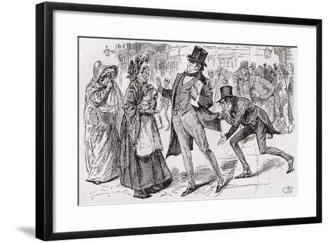 Mr. Jaggers and His Clients. Mr. Jaggers Suddenly Stopped--Framed Art Print