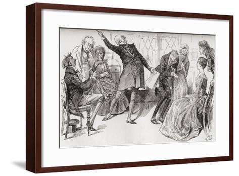 Mr. Micawber Achieves the Downfall of Heep. The Triumphant Flourish with Which Mr. Micawber Deliver--Framed Art Print